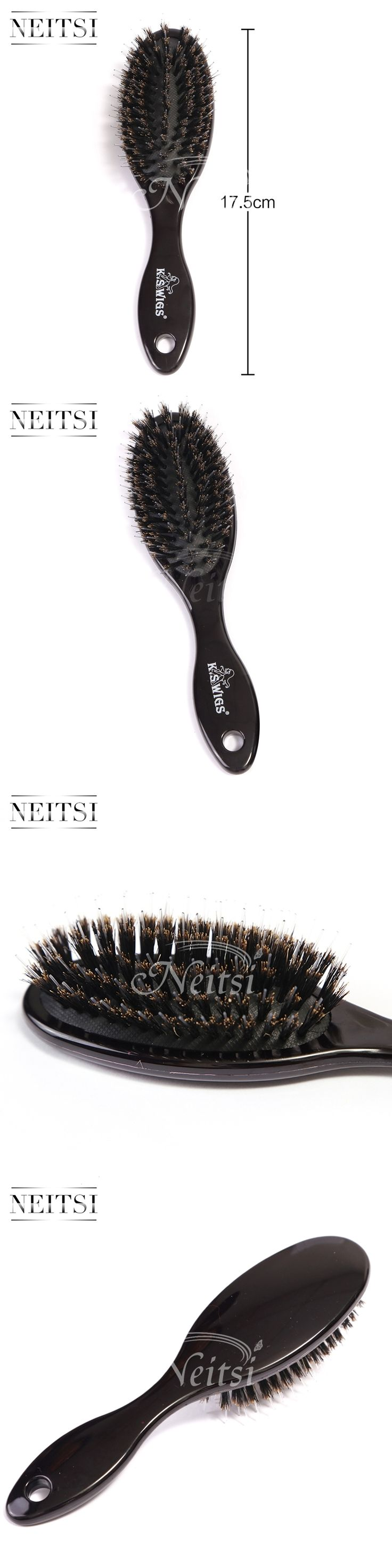 Neitsi Professional Boar Bristle Hair Brush Bamboo Brush Hair comb for Human Hair Extensions 1PCS/PACK
