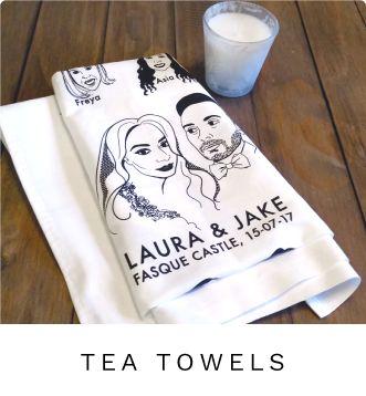 wedding tea towel illustration - custom designed to your photos. www.weedesignstudio.scot  #weedesignstudio  (scheduled via http://www.tailwindapp.com?utm_source=pinterest&utm_medium=twpin)