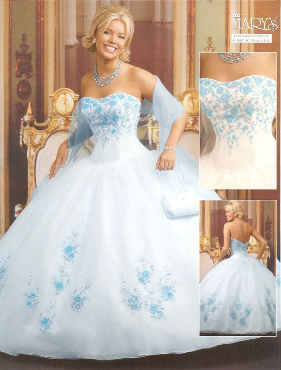 7 best 2014 Blue and White Sweet Sixteen Dresses images on ...