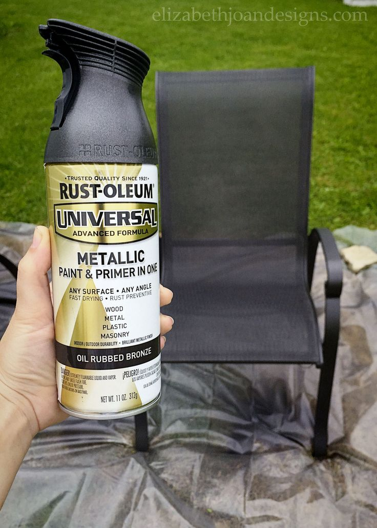 Patio Furniture Makeover Painted, Best Spray Paint For Metal Outdoor Chairs
