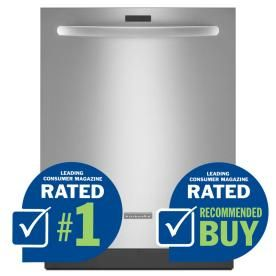 KitchenAid Architect Ii 43-Decibel Built-In Dishwasher and Stainless Steel Tub (Stainless Steel) (Common: 24-in; Actual: 23.875-in) ENERGY STAR