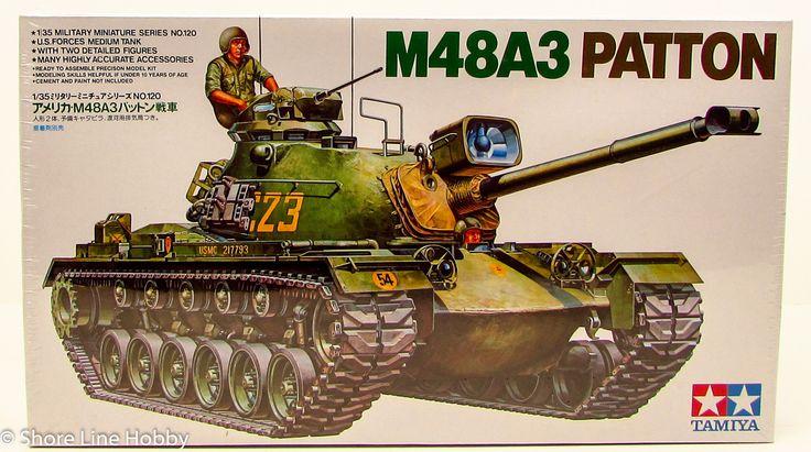 Tamiya M48A3 Patton Tank 35120 New Armor Plastic Model Kit Military