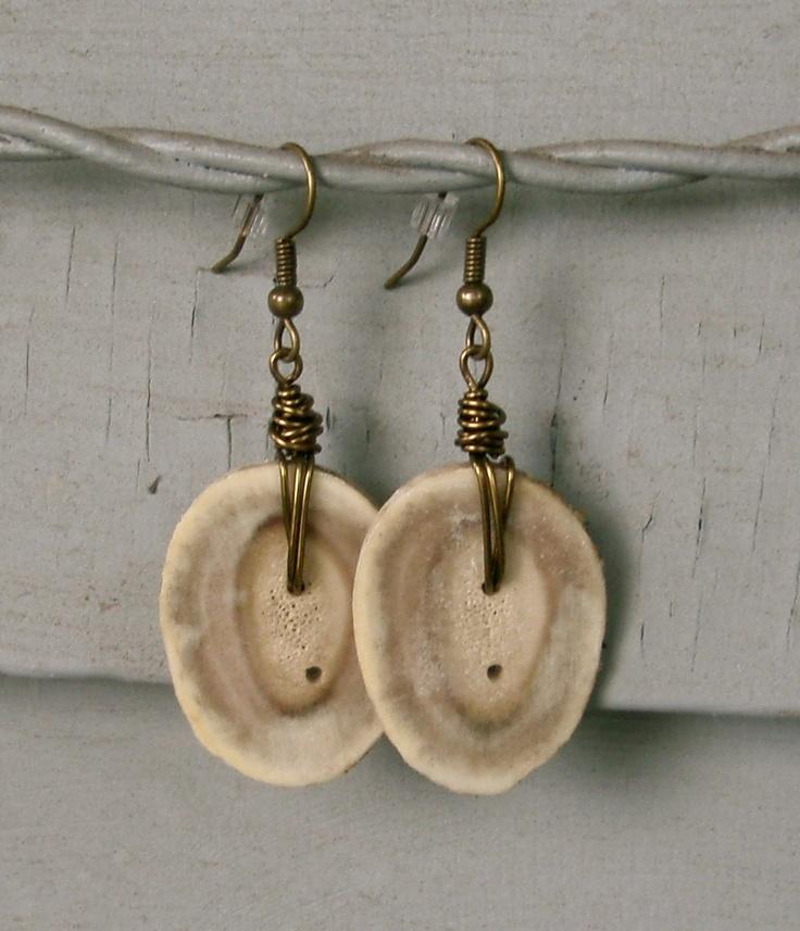 Dangly Antler Earrings