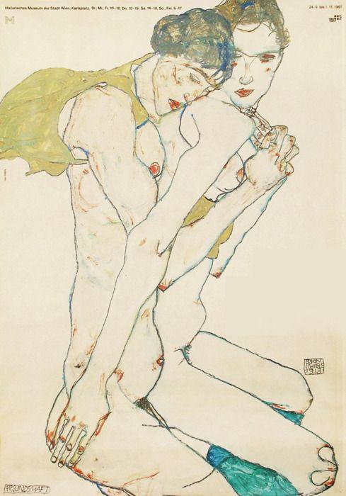 Freundschaft (Friendship), 1913 - Egon Schiele