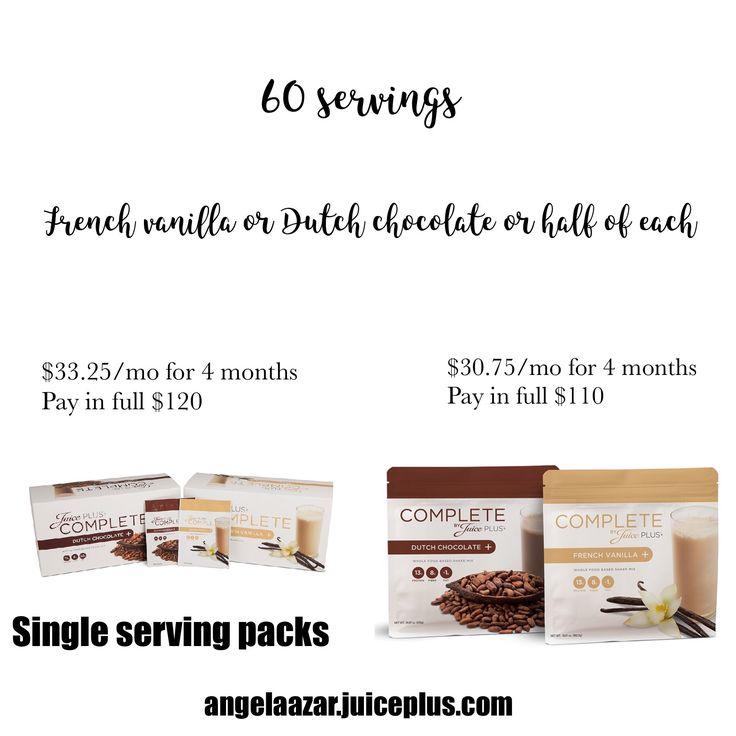 Juice plus complete US pricing
