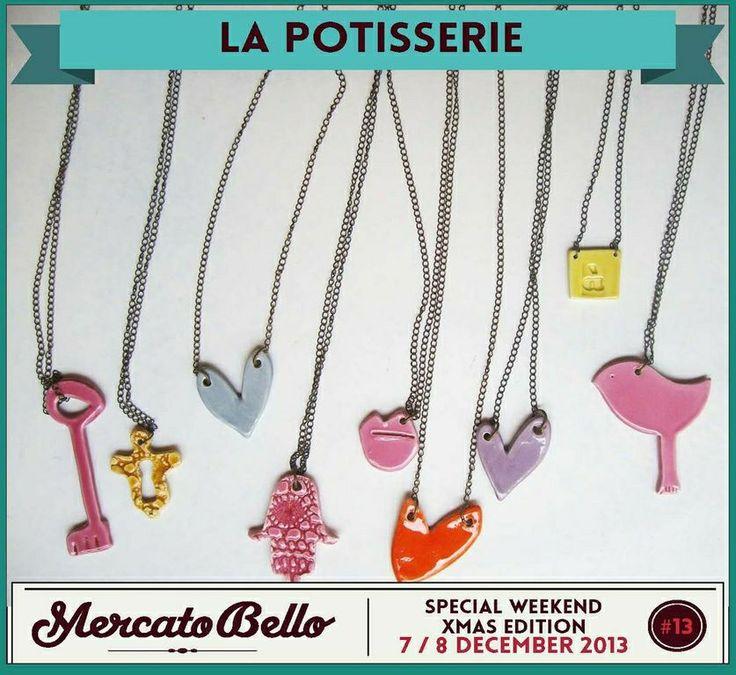 • La potisserie Ceramiche per la casa e bijoux. tutto fatto a mano. maioliche, gres e porcellane. La sua opere qui: www.lapotisserie.blogspot.com