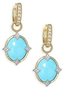 Jude Frances Women's Small 18K Gold & Diamond Moroccan Turquoise Drop Earring Charms