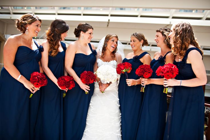 Red, white & blue & patriotic all over! A classic Washington D.C wedding ceremony! | United With Love