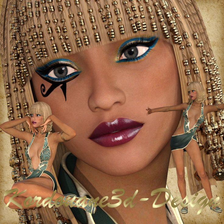 Farella : 3 tubes de femme Égyptienne de l'antiquité