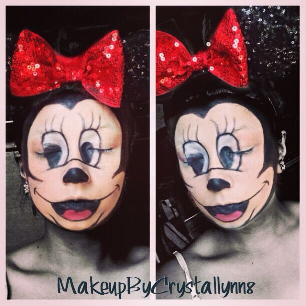 scary minnie mouse halloween makeup