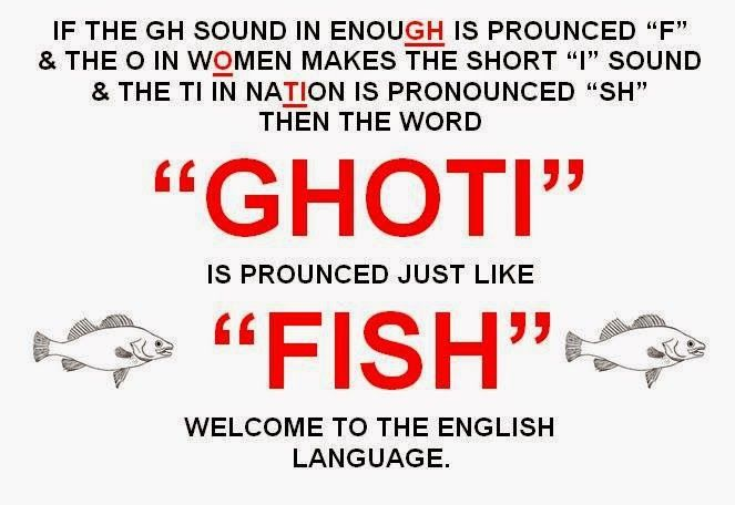 Funny english language if the gh sound in enough is for What sound does a fish make