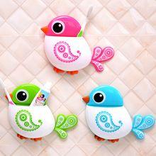 1 Adet Güzel Kuş Şekli Diş Fırçası Tutucu Güçlü Enayi Banyo Setleri 4 Renkler…