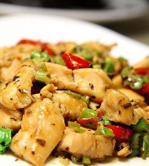 Lime Basil Chicken. So easy even my lazy arse could pull it together.