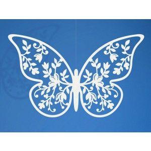 10 papillons dentelle fleur 8 cm