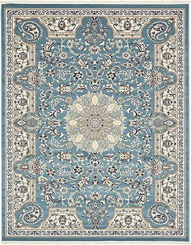 Unique Loom Nain Design Collection Blue 8 x 10 Area Rug (8' x 10')