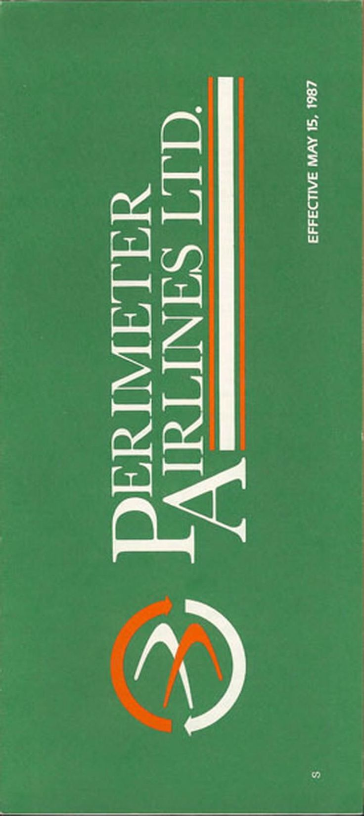 vintage airline timetable for Perimeter Airlines