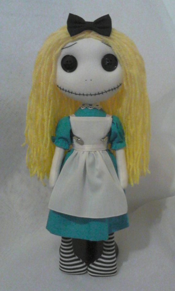 Gothic Art Rag Doll - Alice Reserved For Miss L