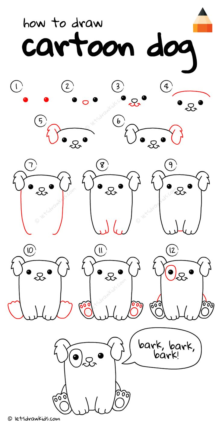 Lucky for us, these proud moms and dads caught their babies' flubs on film. How To Draw a Dog | Cartoon drawings, Easy drawings ...