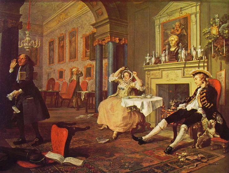 Autore: William Hogart Nome dell'opera: La mattina (2/6) Data: 1744 Tecnica: olio su tela Collocazione attuale: National Gallery