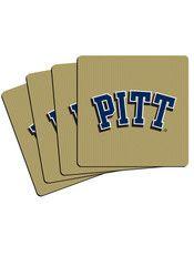 Pitt Panthers 4 Pack Neoprene Coaster