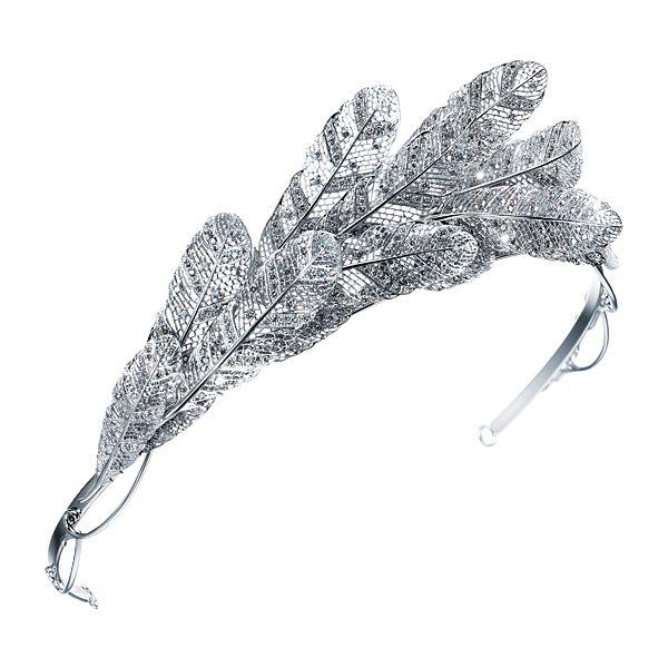 Tasaki Take flight Tiara. Silver/grey diamonds 5.26ct