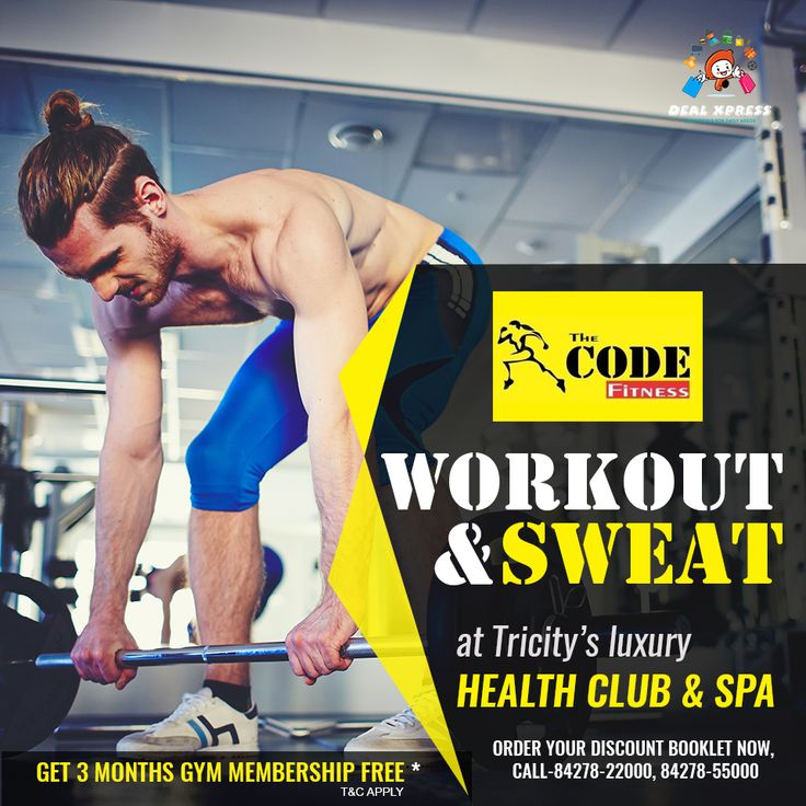 Now your body fitness is as easy as a child's play. Get exciting #CodeFitness gym deals with #DealXpress Discount Coupon Booklet and sweats more.