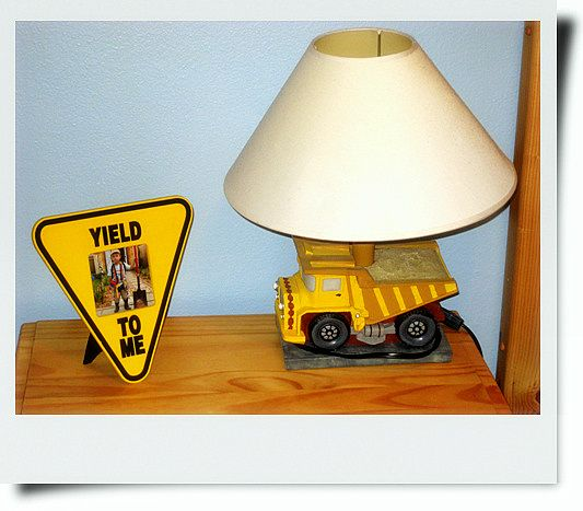 Construction theme toddler bedroom - could make this out of a large toy truck! So fun!