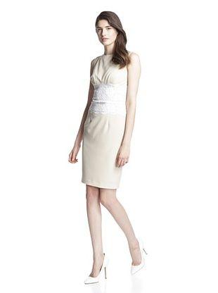 76% OFF Single Women's Alexa Lace Waist Dress (Sand/White Lace)
