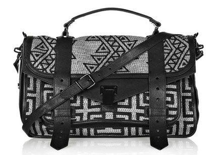Proenza Schouler PS1 messenger satchel in tribal print