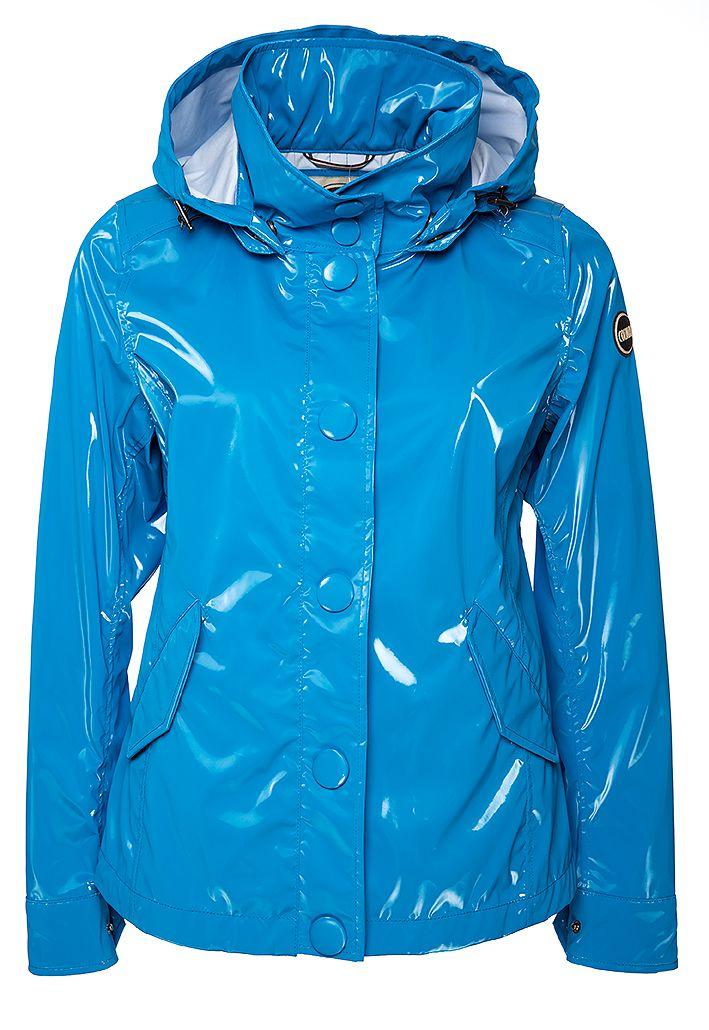 "Colmar Damen Regenjacke ""Smooth"" Blau gesehen @ www.sailerstyle.com"