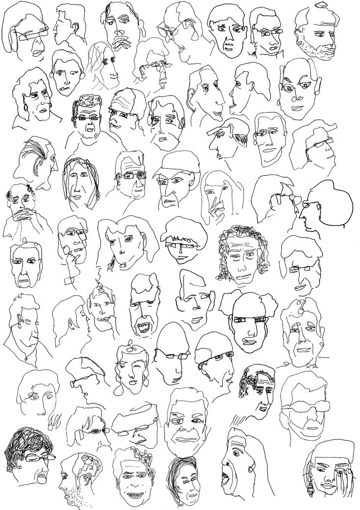 sketches of people who are waiting for their orders at a supermarket cafe - by Jonathan Charles Evans
