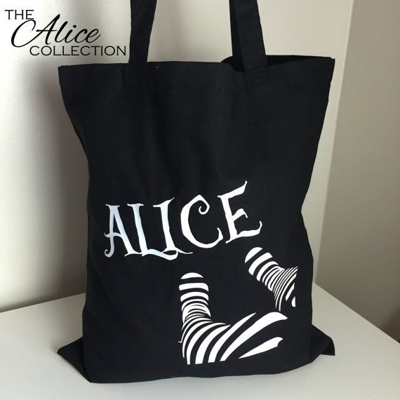 Hey, I found this really awesome Etsy listing at https://www.etsy.com/listing/246534569/alice-in-wonderland-legs-cotton-tote-bag