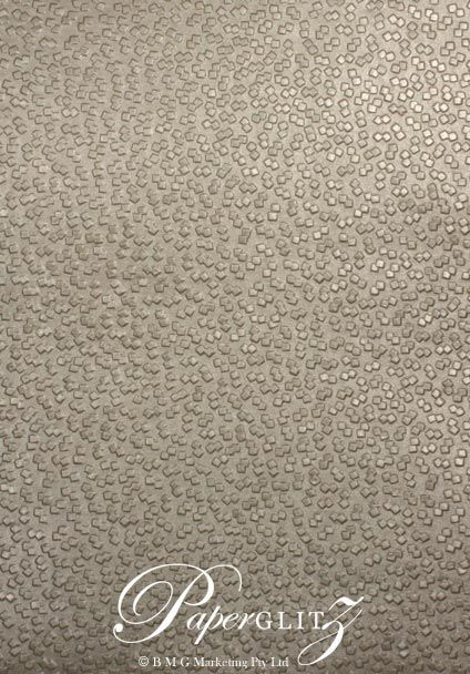 Handmade Embossed Paper - Modena Pewter Pearl A4 Sheets
