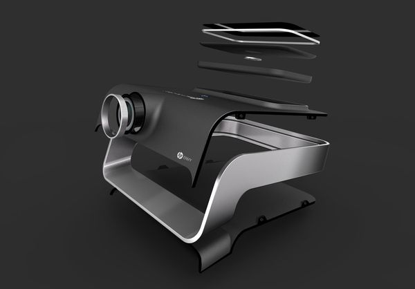 Envy Eyes | Video projector | HP by Elie Ahovi, via Behance
