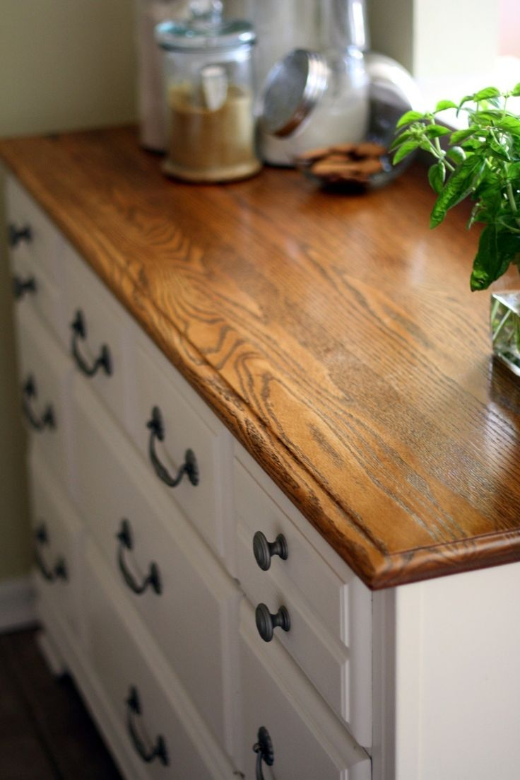 How to make dresser drawers - Upcycled Dresser Turned Kitchen Cabinet