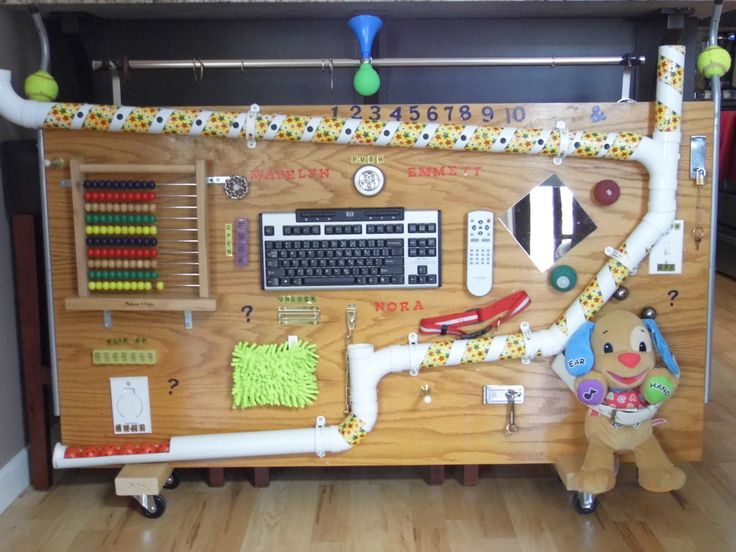 Sensory Board  - I like the idea of the pipes because Bug seems very interested in physics