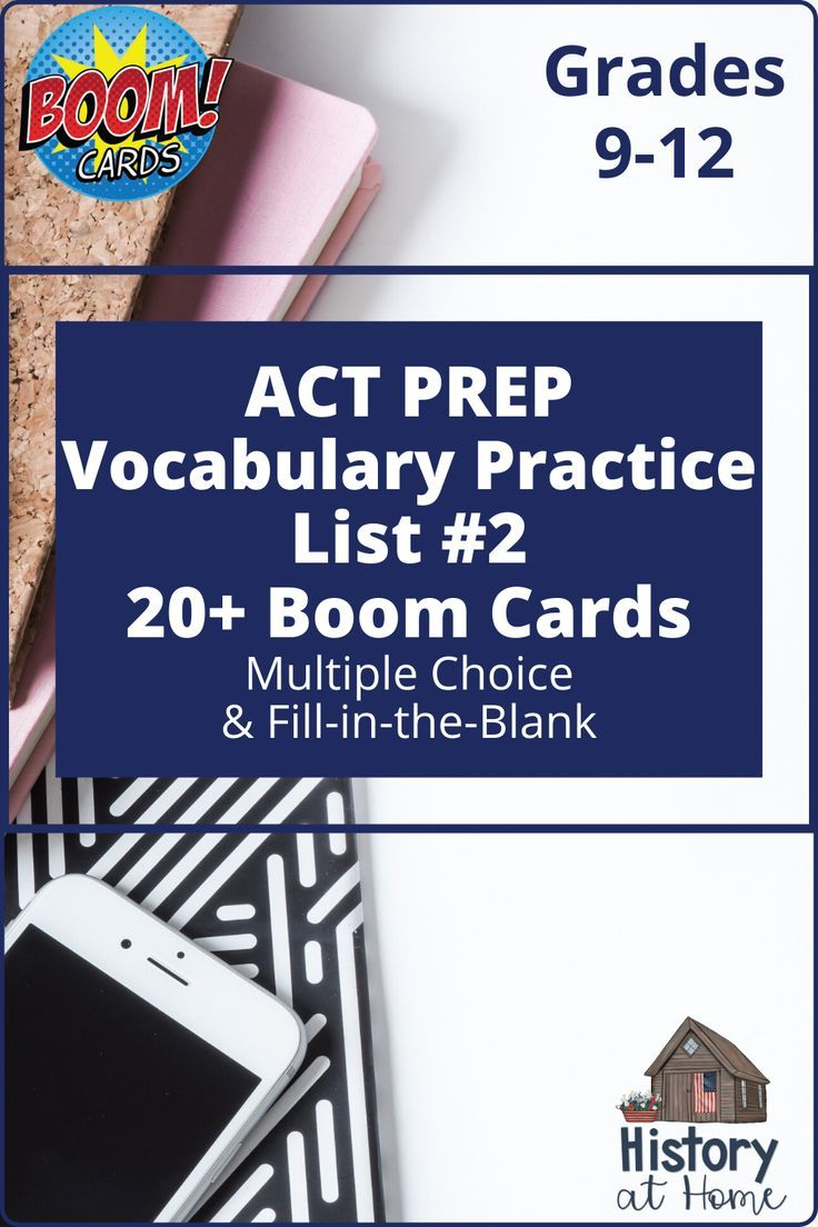 Act Prep Vocabulary List 2 Practice For 9th 12th Grade Boom Cards High School Resources Act Prep High School Lessons [ 1104 x 736 Pixel ]