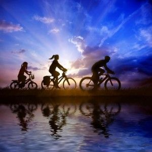 Do You Remember Your Early Days of Bicycling?  Many adults only remember riding a bike. They gave it up as they became older. Adults can and should take advantage of bicycle riding to get some exercise. Older folks may want to ride the large tricycle with a basket on the front. Perhaps it's time to start again!