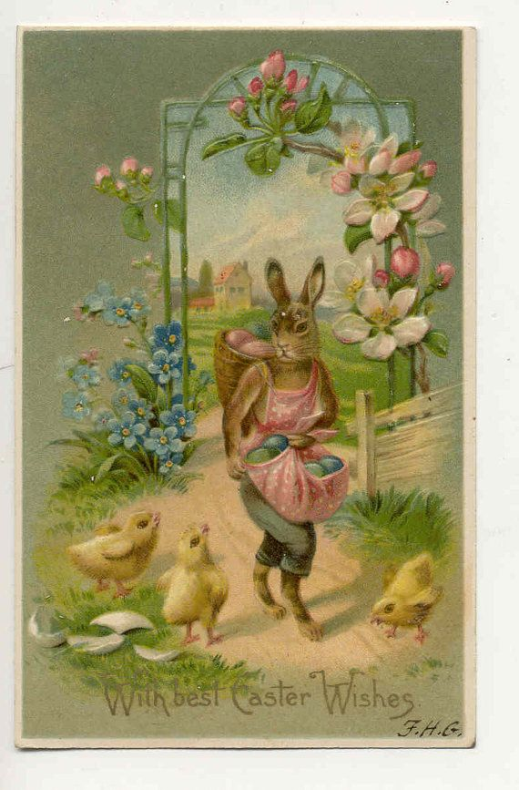 Vintage 1908 Easter post Card by innocentpainting on Etsy, $2.50
