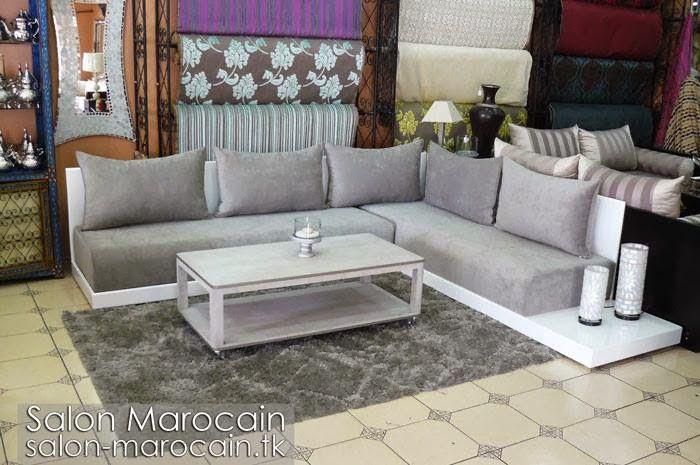 Salon marocain moderne gris 2014