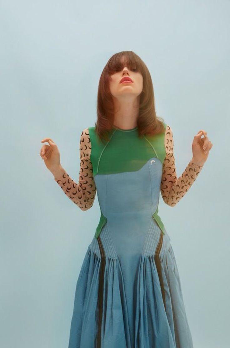 Marine Serre @marine_serre dress by Sol Sanchez @chateausanchez for Numéro mag @numeromagazine 4 June 2017, stylist Guillaume Boulez @guillaumeboulez