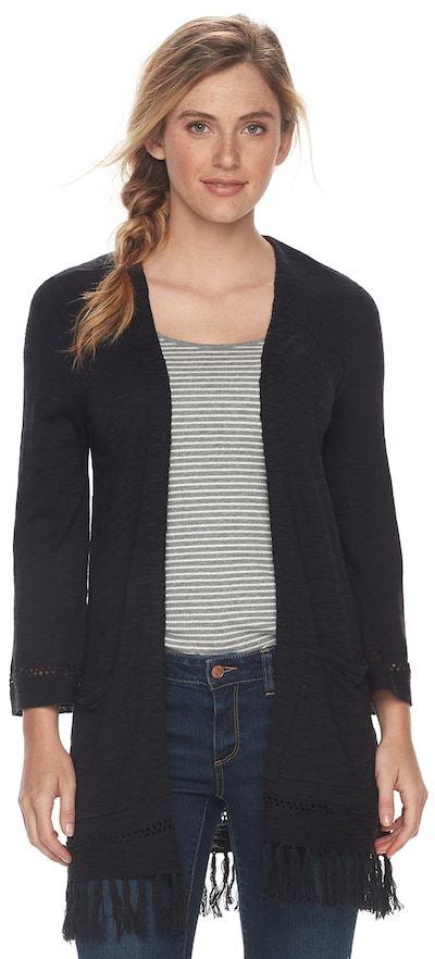 SONOMA Goods for Life Women's SONOMA Goods for LifeTM Fringe Cardigan