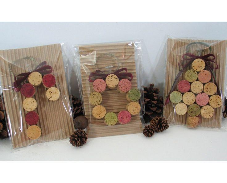 wine cork ornament | Wine Cork Ornaments | Gift Ideas