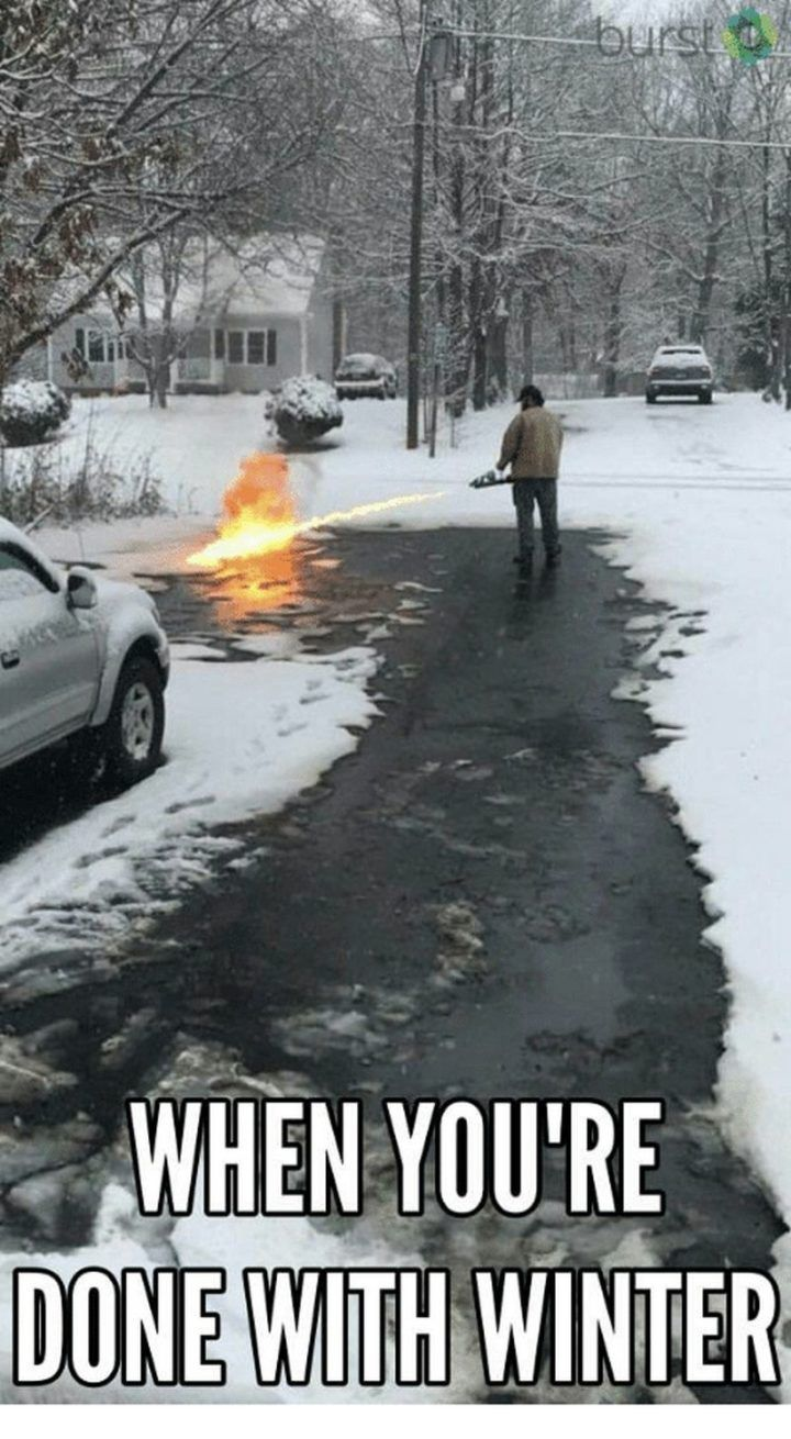 "55 Funny Winter Memes – ""If you're with winter …"