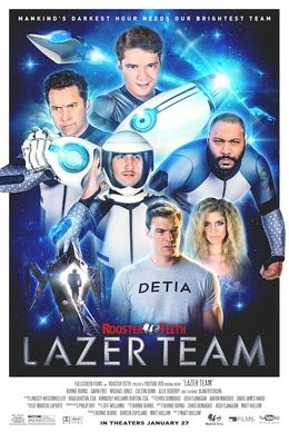 Get your friends, family, neighbor, cousin, pizza guy, pizza guy's girlfriend, and get them all to the theater to watch Lazer Team on the big screen.
