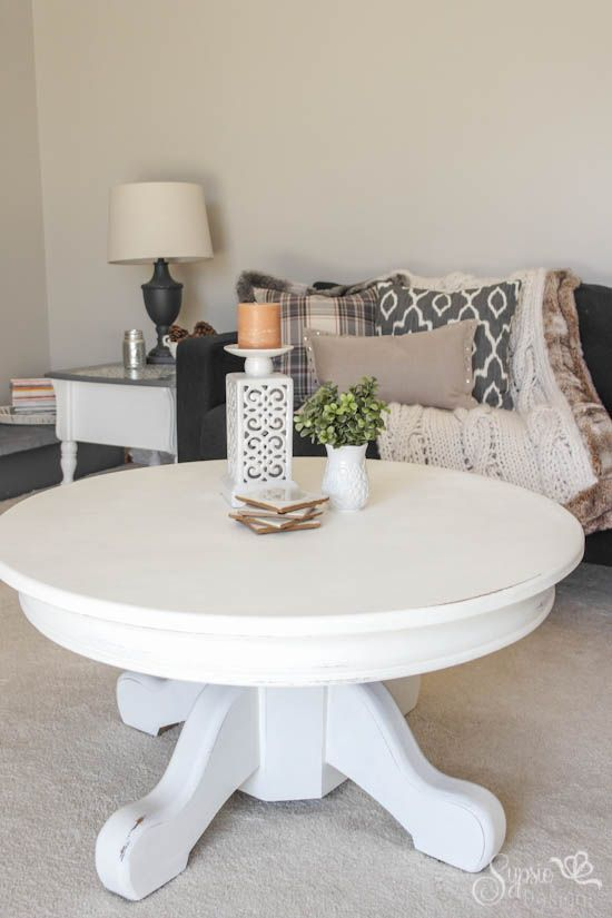 White Rustic Painted Coffee Table - Sypsie Designs
