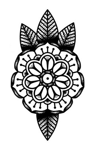 Finally found a dot/mandala flower tattoo I love!