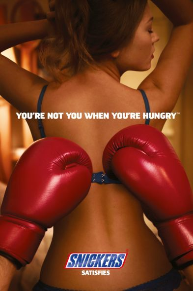 Snickers Ad, quite funny. Take a look. You're not you when you're hungry...