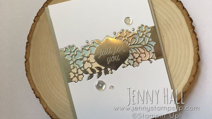 So Detailed Thinlits Die belly band as an inlay using Stampin Up product...