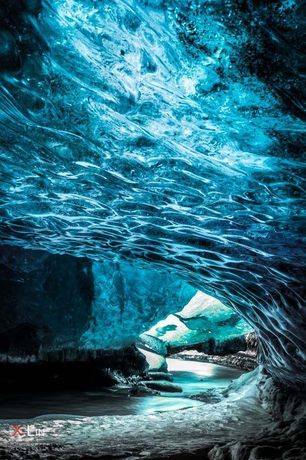 Crystal Cave river exit :: Vatnajokull National Park on the East coast of Iceland